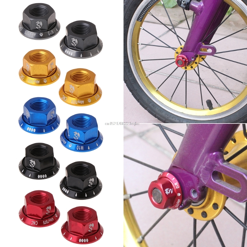 Office & School Supplies Earnest 2pcs/bag Bicycle Hub Nut M10 Fixed Gear Mtb Road Bike Screw Bolt Aluminum Alloy To Help Digest Greasy Food Business Cards