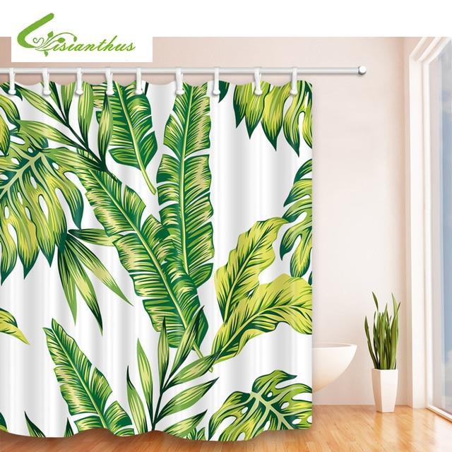 Tropische Pflanze Muster Duschvorhänge Wasserdicht Bad Vorhang Mildewproof  Bad Vorhang Mit 12 Stücke Vorhang Haken Ringe