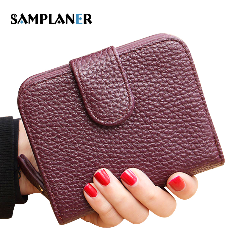 Samplaner Fashion Women Wallets Small Purse Female PU Leather Purse Ladies Card Holder Coin Purse Girls