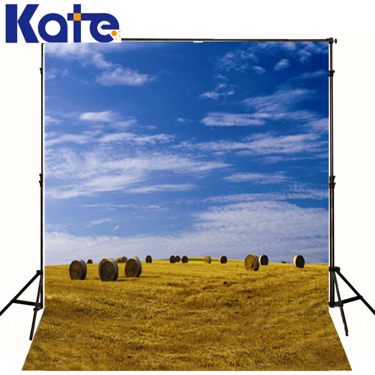 Baby Photo Background Blue Sky White Clouds Backdrop Baby Yellow Grass Background For Photographer blue sky чаша северный олень