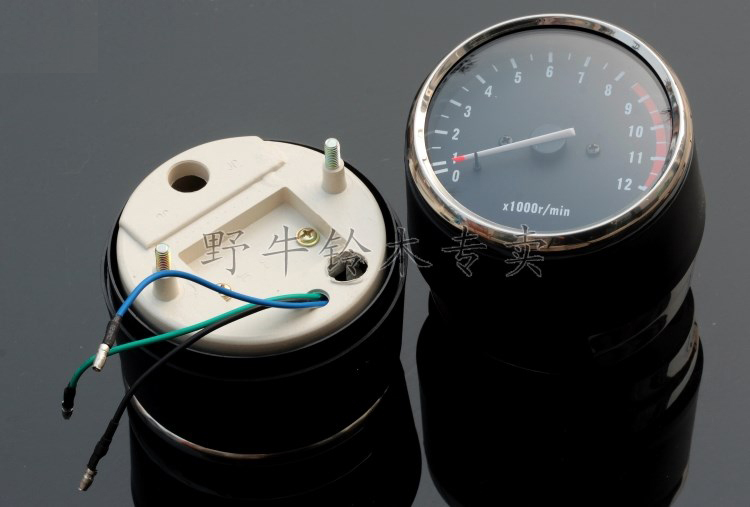 OEM Quality Electronic Tachometer Speedometer Speed Indicator Revolution Meter For Suzuki GN250 1pc Electroplated Bottom