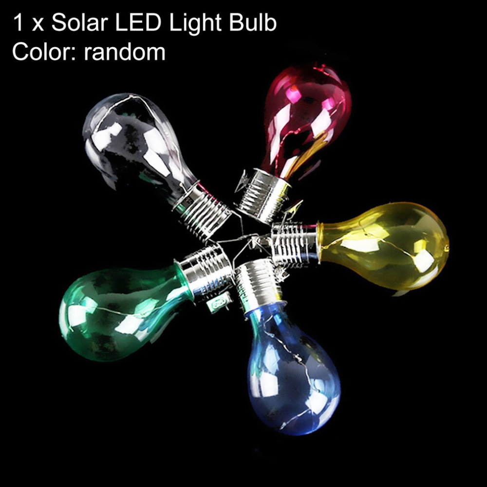 Solar LED Light Bulbs Rotatable Waterproof Outdoor Garden Camping Hanging LED Light Bulbs Tree Decoration Night Light Lamp