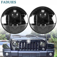 FADUIES 7 INCH ROUND BB LED HEADLIGHTS PAIR For JEEP WRANGLER 1997 2018 Niva Lada 4x4