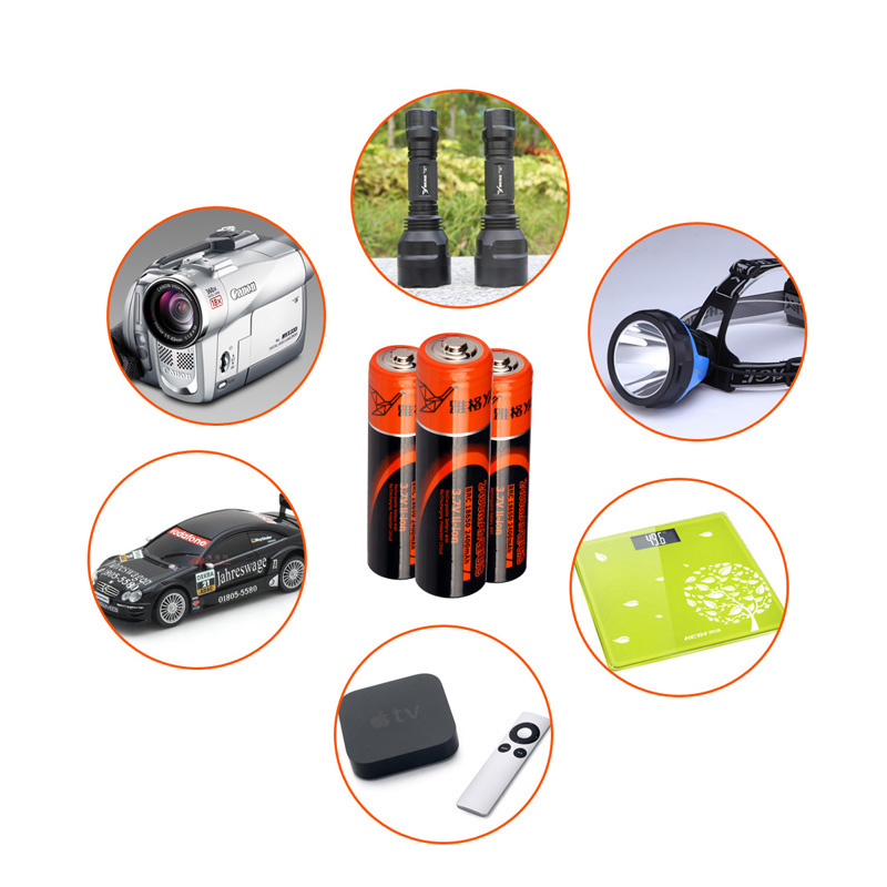 YAGE Original 18650 Battery 3 7V Real 1800mAh 2 4 Rechargeable 18650 Lithium Explosion Relief Valve For Flashlight Batteries in Portable Lighting Accessories from Lights Lighting
