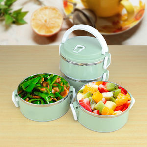 Sanqia 4 Layers leakproof 304 Stainless Steel lunch Box Portable Picnic Food Container bento tiffin box thermal dinnerware set