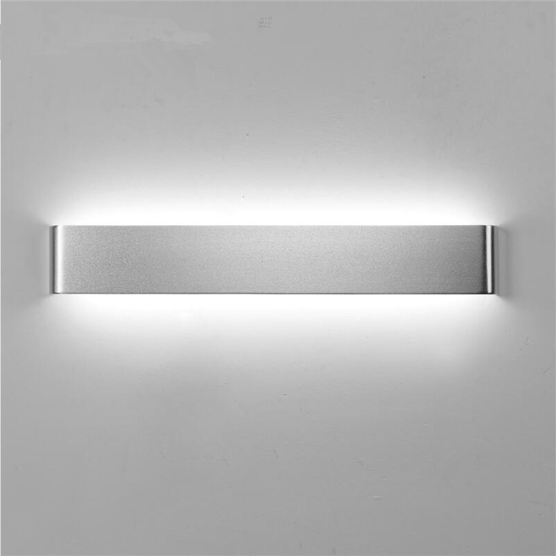 White/Black Nordic Aluminum Painted Metal Wall Lamp Modern Led Bathroom Light Mirror Room Contemporary Design Kitchen Stair 40cm 12w acryl aluminum led wall lamp mirror light for bathroom aisle living room waterproof anti fog mirror lamps 2131