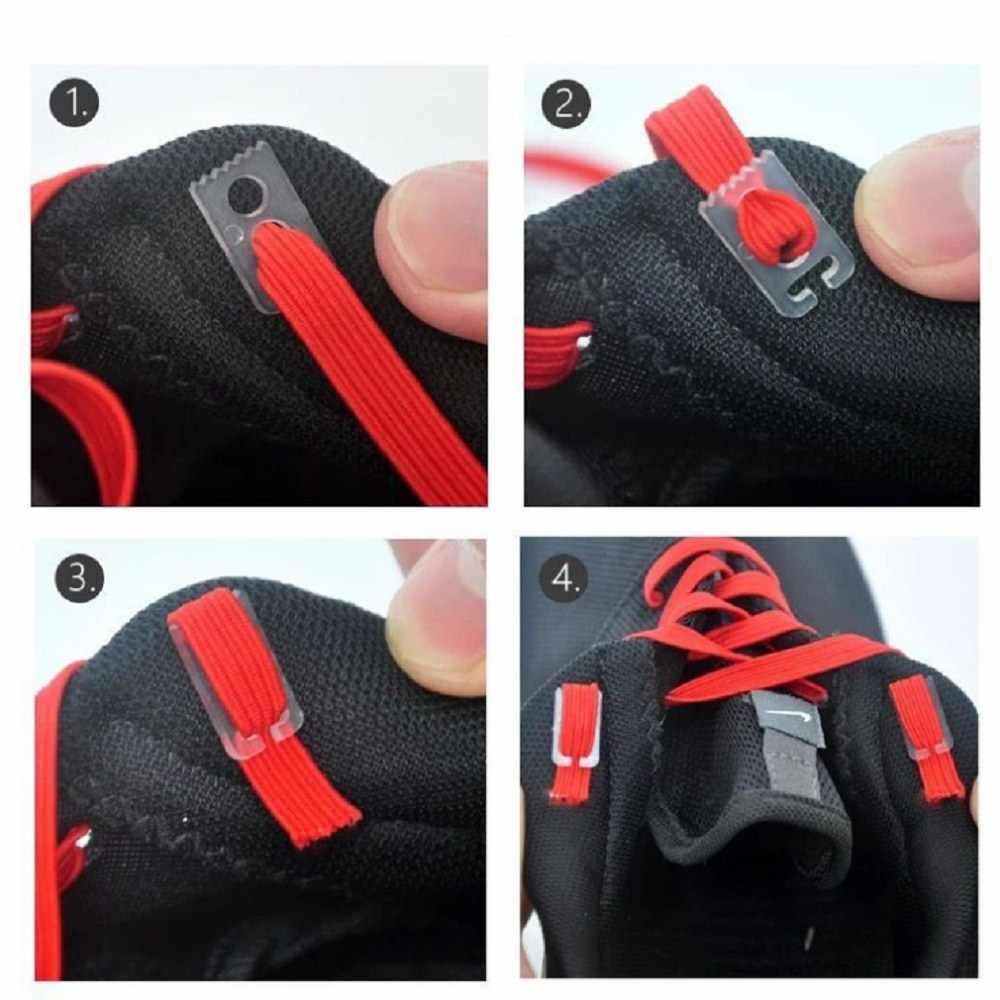 1 คู่ 100 ซม. แบนยืดล็อคไม่มี tie lazy shoeLaces รองเท้าผ้าใบ Bootlaces ยืดหยุ่นยางรองเท้าเด็กปลอดภัยเชือกผูกรองเท้า