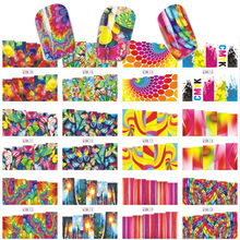 12 Sheet/Lot Mixed Design Fish/Butterfly/Geometric 2018 Nail Art Water Transfer Tip Manicure Decal Sticker Water Nail DIY цена