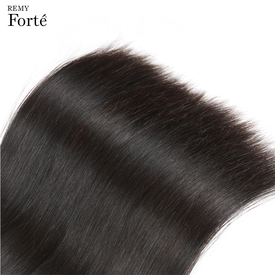 Remy Forte Straight Hair Bundles With Closure Non Remy 8-30 Inch Hair Brazilian Hair Weave Bundles 3/4 Bundles With Closure