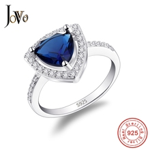 JOVO 925 Sterling Silver Rings For Women Cubic Zirconia Bridal Fine Jewelry Engagement Bague Accessories