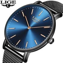 LIGE Fashion Men Watch Luxury Brand Quartz Creative Clock Steel Black Military Male Waterproof Wrist Watches Relogio Masculino все цены
