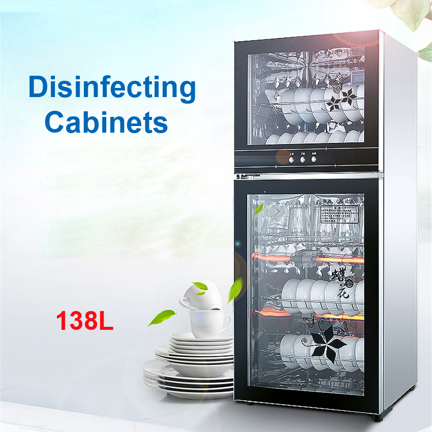ZTP-138 Disinfection Cabinet Vertical Disinfecting Cabinet Household Disinfection Small Home Cleaning Appliance 138L Capacity