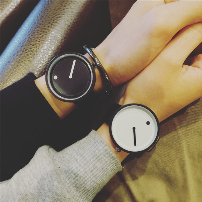 2017gift cool colour Minimalist style wristwatch creative design Dot and Line simple stylish with quartz fashion watch Relogio gift enmex cool colour minimalist style wristwatch creative design dot and line simple stylish with quartz fashion watch