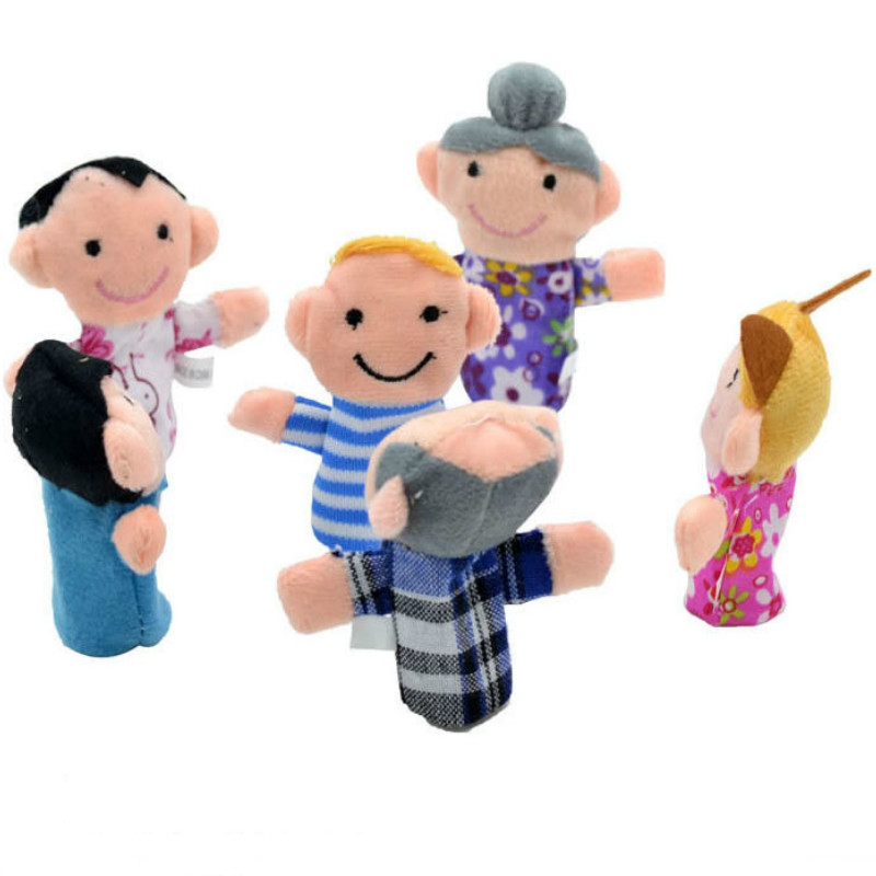 1Pcs-Family-Finger-Puppet-Cloth-Doll-Baby-Educational-Hand-Toy-Story-Funny-Kids-Doll-Toy-4