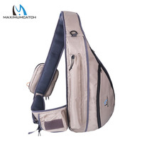 Maximumcatch Tenkara Fly Fishing Sling Pack Bag Fishing Net and Rod Bag with Fly Patch