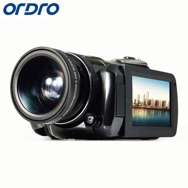 "Free shipping! ORDRO HDV-D395 Full HD 1080P 18XDigital Camera  3.0""Touch Screen Digital Video Camera 24MP Resolution"