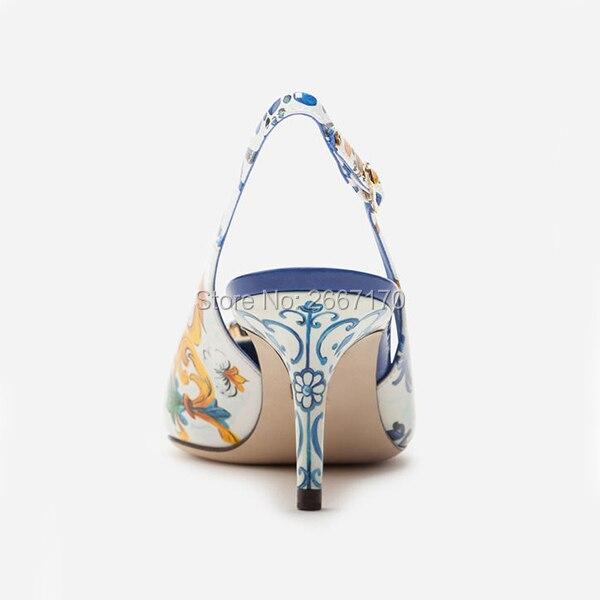Bout Bijoux Talons Pointu Luxe Cristal En Pic Feminino Pic Sapato Mariage Imprimé Hauts Chaussures As Mariée Cuir Pompes Floral Slingback as De qwXq4TP