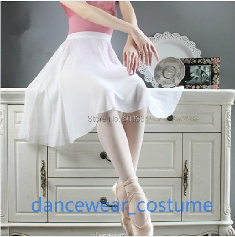Adult Ladies Chiffon Ballet Tutu Skirt 60cm Length Dance Skate Wrap Scarf Dress 8Colors - dance dress store