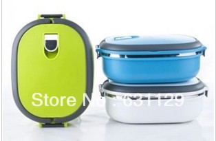 Stainless Steel Lunch Box handle Thermos Food Container Tableware Dinnerware Sets 900ML - Happy Mall ! store