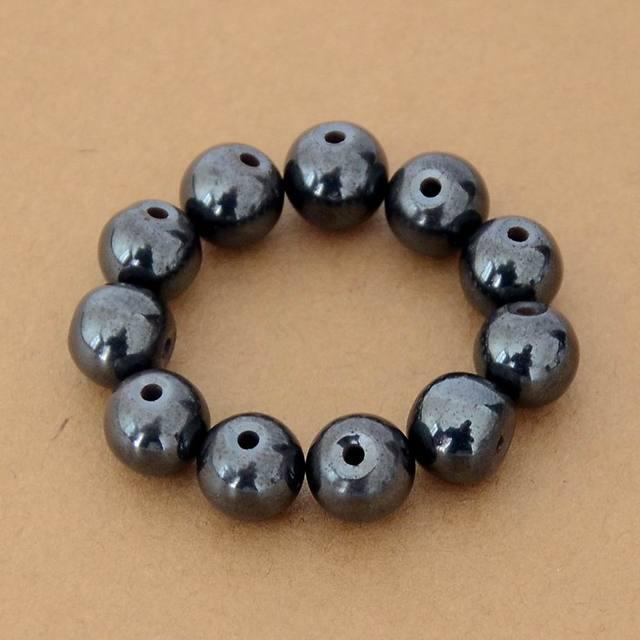 1077e37c7a69 50 unids lote 8 8mm negro gall cuentas de piedra de moda imán cuentas
