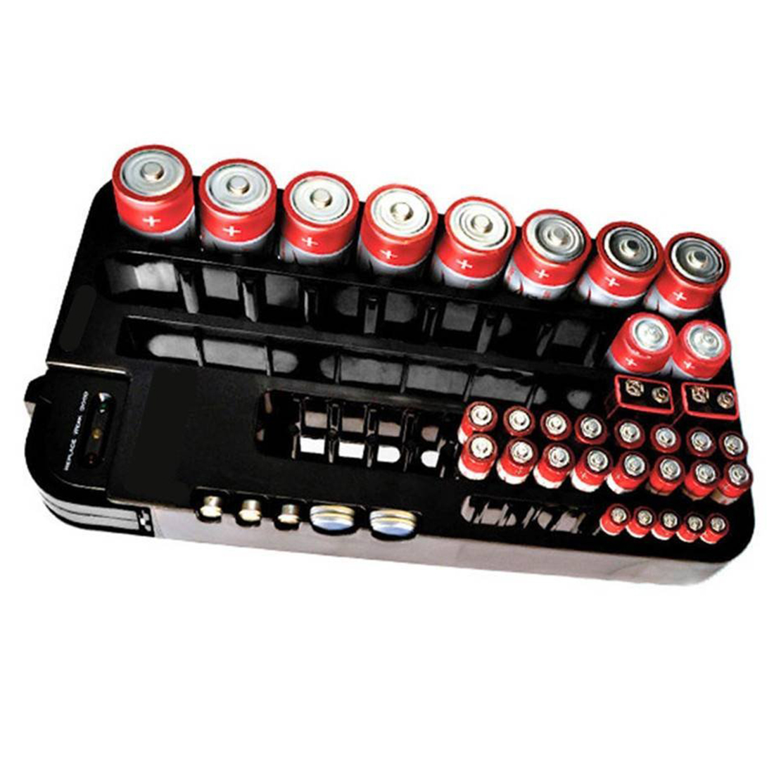 JFBL Hot 72 Battery Tester Case Storage Box Battery Caddy Storage Plastic Holder Slot Rack Organizer Removable Tester For AAA