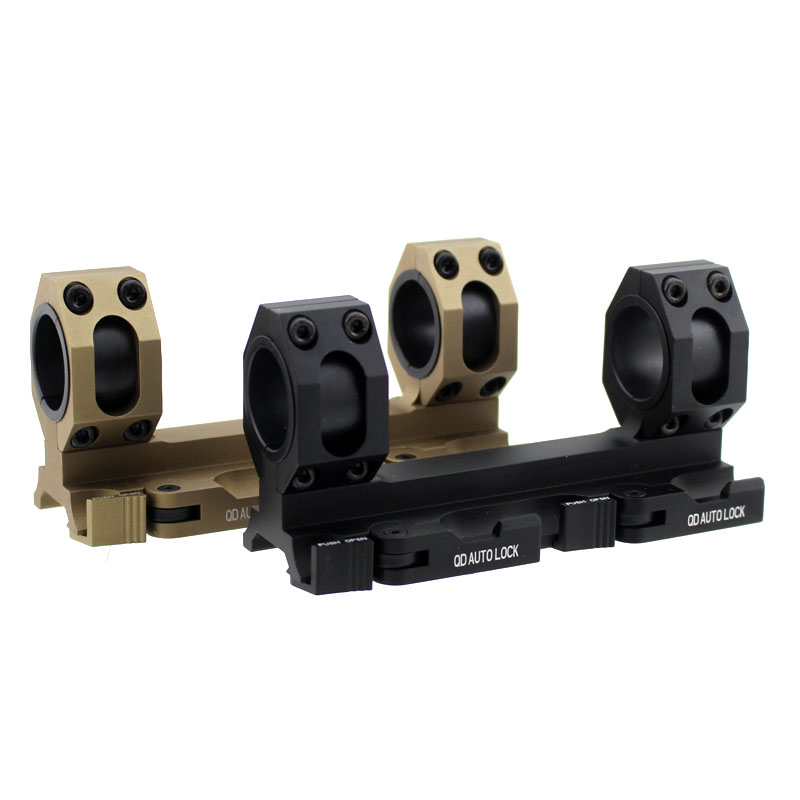 Tactical Quick Release Scope Ring Mount 25mm-30mm Dual Ring QD Auto Lock Picatinny Weaver 20mm Rail For Rifle Shotgun accu new quick release heighten mount for 20mm rifle weaver rails black
