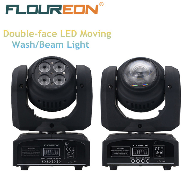Exceptional Floureon 40W+10W LED Moving Head Double Face Led Beam/Wash Stage Light,