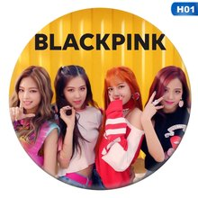 Korean KPOP BLACKPINK Album Brooch 2018 New Fashion Pin Badge Accessories For Clothes Hat Decoration(China)