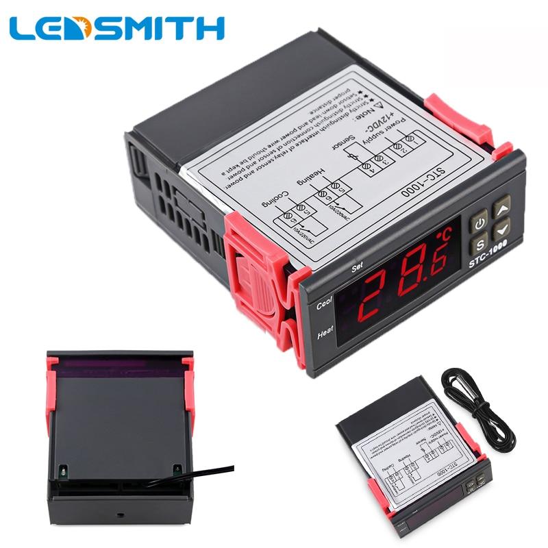 STC-1000 LEVOU Controlador de Temperatura Digital DC 12 V 24 V Termorregulador AC 110 V 220 V Termômetro Termostato Para Incubadora