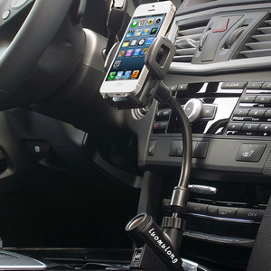 Image 2 - Besegad Flexible Cigarette Lighter Car Phone Charger Holder Cradle Mount w/Dual USB Charging Port for iPhone 7 6 Plus Tablet GPS