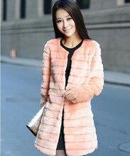 women's fashion faux fur rabbit hair long section of the Korean version of the warm winter fur coat women's casual coat jacket