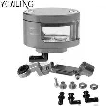 цены Universal Motorcycle Brake Fluid Reservoir Tank with Oil mounting kit For TRIUMPH DAYTONA 600 650 675 955i R ABS