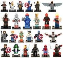 960pcs/lot Super Heroes Avengers Minifigures Captain America Spider-Man Hulk Bane Robin Batman Ultron block toys