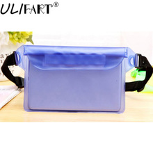 ULIFART New Waterproof Waist Bag Sport Swimming Beach Pouch Dry Case With Waist Strap For Kindle Ipad Mini Iphone Samsung(China)