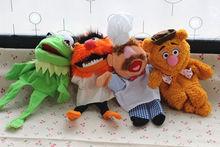 4PCS The Muppets Puppet Kermit Frog Fozzie Bear Swedish Chef  Plush Stuffed 28cm Puppets Baby Kids Children Toys free shipping 45cm cartoon the muppets kermit frog plush toys soft boy doll for children birthday gift