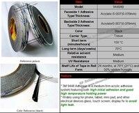 смесь 4 рулонов 1 мм/2 мм/3 мм/4 мм 3m черные полосы двухсторонней липкой ленты липкие для мобильного телефона таблетки сенсорного экрана панели стекла ЖК