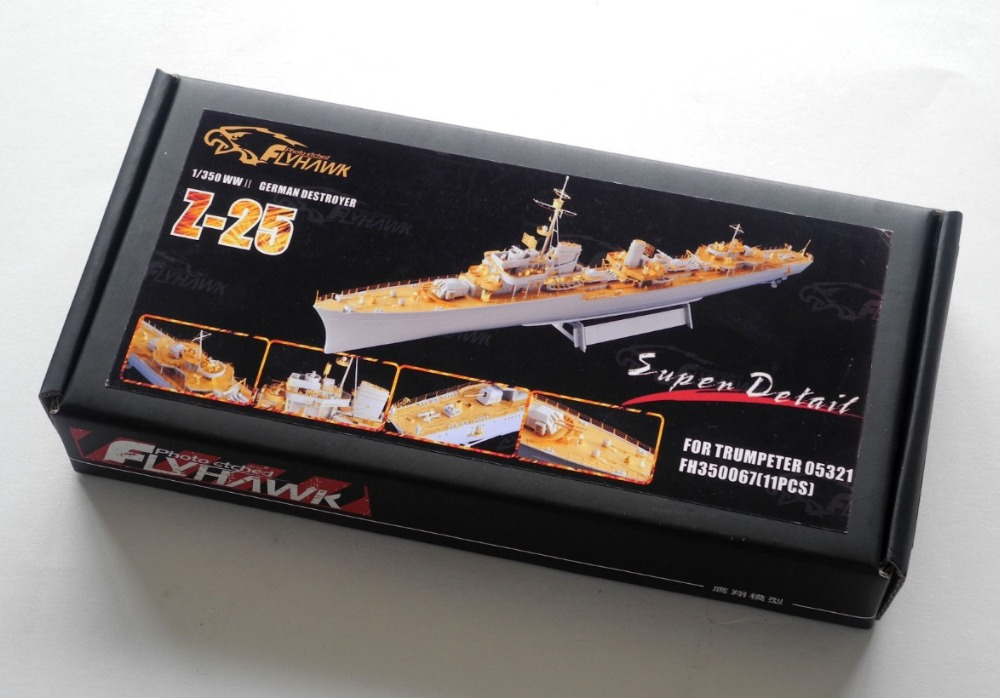 Assembly model Yingxiang 1/350 German destroyers Z-25 with trumpeter Etch sheet ToysAssembly model Yingxiang 1/350 German destroyers Z-25 with trumpeter Etch sheet Toys