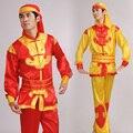 Roupas de Dança Yangko Traje Masculino Dragão chinês Masculino Homem Chinês Dança Do Dragão Traje Com Chapéu Tambor Da Cintura Dança Roupas 89