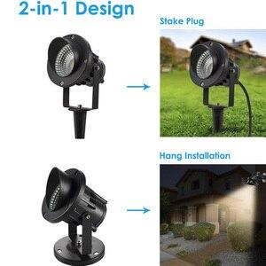Image 4 - LED COB jardin éclairage 3W 5W 10W extérieur Spike pelouse lampe étanche lampe Led Led lumière jardin chemin projecteurs AC110V 220V DC12V