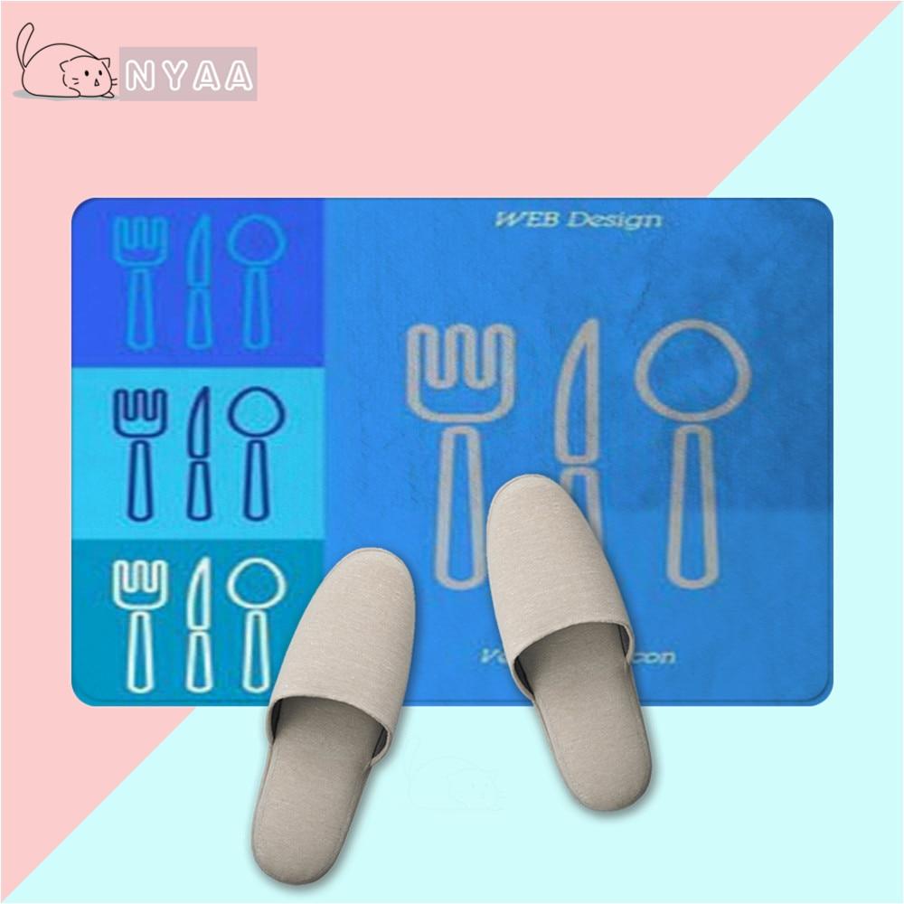 Ambitieus Nyaa Gebakken Zeebaars Achtergrond Vloer Mat Anti-slip Tapijt Home Decor Voor Keuken Slaapkamer Badkamer Hoge Standaard In Kwaliteit En HygiëNe