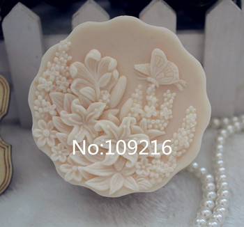 Wholesale 1pcs butterfly with flowers lace zx100 handmade soap mold crafts diy silicone mould.jpg 350x350