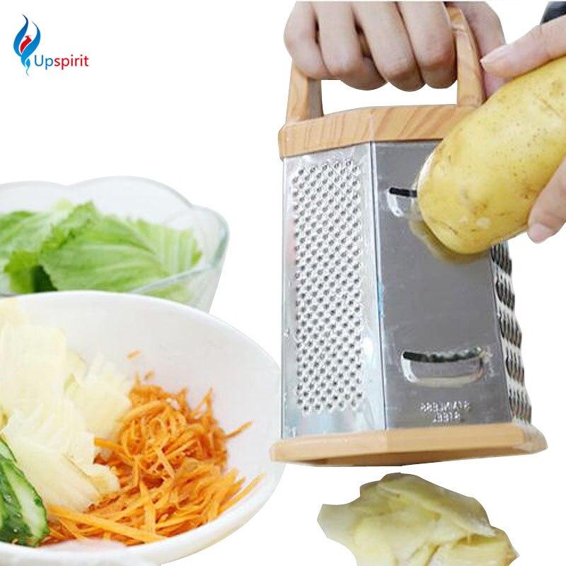 High Quality 6 Sides Multi functional Stainless Steel Grater Handheld Slicer Fruit Vegetable Planer Knives Kitchen