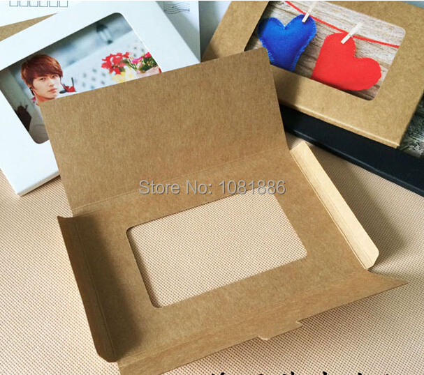 1 23 joy 4x6 foldable postcard packaging boxes photo window 1 23 joy 4x6 foldable postcard packaging boxes photo window boxesgreeting card kraft boxes size 15510205cm in gift bags wrapping supplies from m4hsunfo