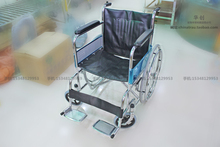 Medical  thickened wheelchair foldable portable for the old man and patient with brake