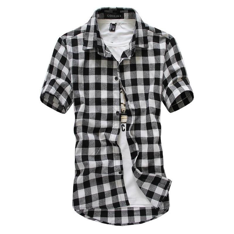 Aliexpress.com : Buy Red And Black Plaid Shirt Men Shirts 2017 New ...