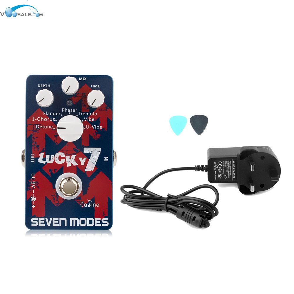 Caline CP-38 7 High Quality Modu Guitar Effects Pedals with Ture Bypass+AC100V-240V to DC9V/1A Adapter Use Have AU UK US EU Plug free shipping 10pcs ad7470aruz