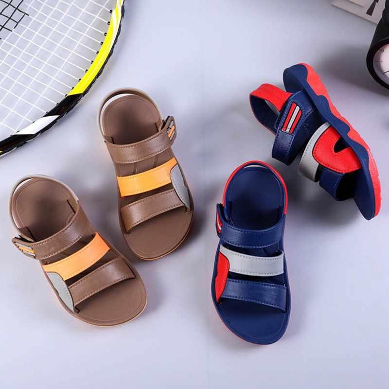 2019 קיץ ילדים נעליים לפעוטות בני סנדלי אורטופדי ספורט עור מפוצל תינוק סנדלי בני נעלי #