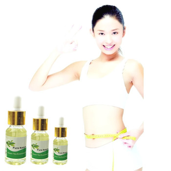 5/10/15ml Green Tea 5 Days Quick effect Slimming Lose Weight Essential Oils Thin Leg Waist Fat Natural Safety For Women/Men Essential Oil
