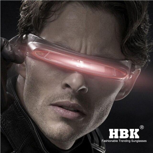 Hbk x man 레이저 사이클롭스 선글라스 디자이너 특수 메모리 재료 편광 된 여행 쉴드 쿨 선글라스 uv400 pc k40021