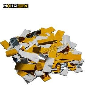 Image 5 - 3 кг/лот ткань конфетти бумага Прямоугольник Серебро Конфетти для CO2 Jet конфетти машина
